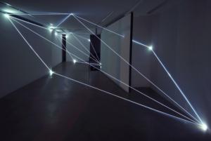 53 Carlo Bernardini, Codice Progressivo 2010; fibre ottiche, dimensione ambiente. Antonella Cattani Contemporary Art, Bolzano.