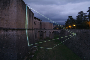 65 Carlo Bernardini Matter is the vacuum, 2011 Optic fibers, feet h 96 x 80 x 44. Forte Spagnolo, L'Aquila