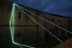 66 Carlo Bernardini Matter is the vacuum, 2011 Optic fibers, feet h 96 x 80 x 44. Forte Spagnolo, L'Aquila