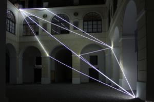 08 Carlo Bernardini Corporeità della luce, 2012 Fibre ottiche, mt h 13 x 15 x 14. Museo Diocesano, Salerno