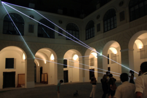 10 Carlo Bernardini Corporeità della luce, 2012 Fibre ottiche, mt h 13 x 15 x 14. Museo Diocesano, Salerno