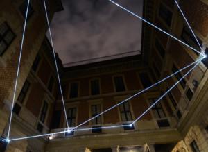 13 Carlo Bernardini Corporeità della luce, 2012 Fibre ottiche, mt h 7 x 12 x 12. Palazzo Bagatti Valsecchi, Milano
