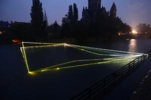 03 Carlo Bernardini Submerged Breath, 2013 Fibra ottica, dimensione ambiente, mt H 4 x 37 x 28. Metz, Moselle Canalisée, Square Du Luxembourg, Moyen Pont