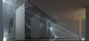 06 Carlo Bernardini Dimensioni Invisibili, 2014 Installazione in fibra ottica, mt h 4 x 11 x 8. Bratislava, Museum Milan Dobesha