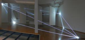 07 Carlo Bernardini Dimensioni Invisibili, 2014 Installazione in fibra ottica, mt h 4 x 11 x 8. Bratislava, Museum Milan Dobesha