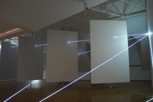 08 Carlo Bernardini Dimensioni Invisibili, 2014 Installazione in fibra ottica, mt h 4 x 11 x 8. Bratislava, Museum Milan Dobesha
