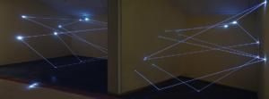 09 Carlo Bernardini Dimensioni Invisibili, 2014 Installazione in fibra ottica, mt h 4,5 x 15 x 5. Sharjah, Sharjah Art Museum