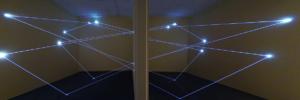 10 Carlo Bernardini Dimensioni Invisibili, 2014 Installazione in fibra ottica, mt h 4,5 x 15 x 5. Sharjah, Sharjah Art Museum