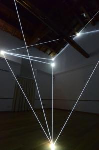 36 Carlo Bernardini Presenze nel vuoto, 2013 Fibra ottica, mt h 6 x 7 x 6. Catanzaro, Complesso Monumentale del San Giovanni