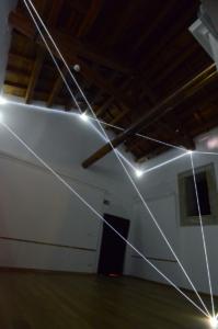 37 Carlo Bernardini Presenze nel vuoto, 2013 Fibra ottica, mt h 6 x 7 x 6. Catanzaro, Complesso Monumentale del San Giovanni