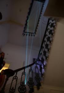 39 Carlo Bernardini Corporeità della Luce, 2013 Fibre ottiche, mt h 12 x 2 x 3. Londra, The House Peroni