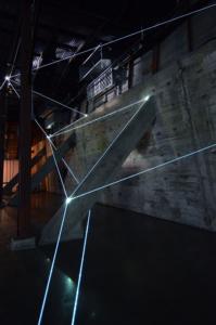 07 Carlo Bernardini Light Trasformation, 2015 Installazione ambientale in fibre ottiche, mt h 6 x 21  x 5. Illumination, Austin (TX)