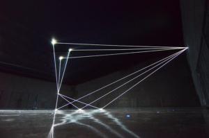 09 Carlo Bernardini Dimensioni Invisibili, 2016 Fibre ottiche, mt H 5,22 x 18,50 x 7,00. Milano, La Porta di Milano, Aeroporto di Malpensa
