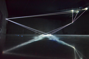 11 Carlo Bernardini Dimensioni Invisibili, 2016 Fibre ottiche, mt H 5,22 x 18,50 x 7,00. Milano, La Porta di Milano, Aeroporto di Malpensa
