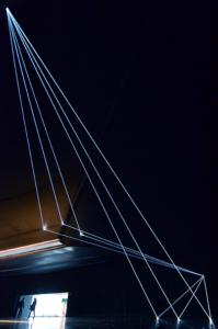 14 Carlo Bernardini Dimensioni Invisibili, 2016 Fibre ottiche, mt H 5,22 x 18,50 x 7,00. Milano, La Porta di Milano, Aeroporto di Malpensa