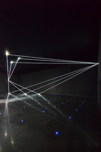 15 Carlo Bernardini Dimensioni Invisibili, 2016 Fibre ottiche, mt H 5,22 x 18,50 x 7,00. Milano, La Porta di Milano, Aeroporto di Malpensa