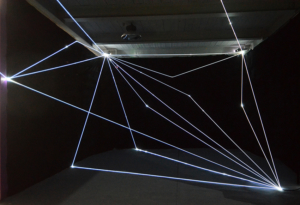 20 Carlo Bernardini Invisible Dimensions, 2016 Installazione in fibre ottiche, h mt 4 x 10 x 15. 898 Innospace, GIC Global Innovator Conference, Pechino
