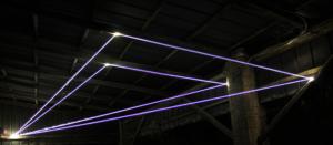 25 Carlo Bernardini Coordinate Invisibili, 2015 Installazione ambientale in fibra ottica, mt h 2 x 12 x 6. Venezia, Isola della Giudecca, Silos Art Inside