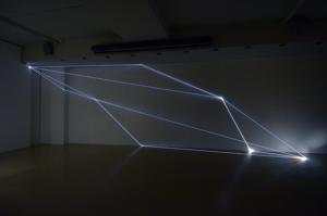 32 Carlo Bernardini Dimensioni Invisibili, 2016 Fibre ottiche, mt h 3 x 9 x 1,50. Legnago (VR) FerrarinARTE