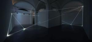 04 Carlo Bernardini Oltrelimite, 2016 Fibra ottica, dimensione ambiente, mt h 4,5 x 11 x 12. Mata, Ex Manifattura tabacchi, Modena