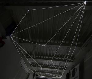 09 Carlo Bernardini Spazio Sospeso, 2017 Installazione ambientale in fibra ottica, h mt 5 x 13 x 4,5. Campus Bovisa - Politecnico di Milano