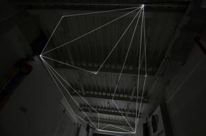 10 Carlo Bernardini Spazio Sospeso, 2017 Installazione ambientale in fibra ottica, h mt 5 x 13 x 4,5. Campus Bovisa - Politecnico di Milano