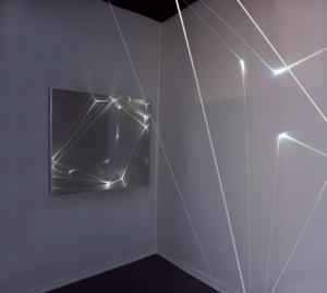 50 CARLO BERNARDINI, Light Catalyst 2007, Fibre ottiche, superficie OLF, cm h 300x200x200. Artiscope Bruxelles, Artparis, Grand Palais, Paris.