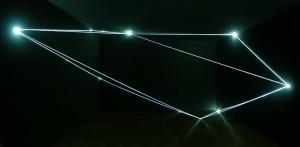 17 CARLO BERNARDINI, Spazio Permeabile 2006, fibre ottiche; h mt 4x8x4. Parigi, Comune di Montrouge.