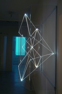 26 CARLO BERNARDINI, Volumi Virtuali 2001, Optical fibres, plexiglass, feet h 3,5x4,5x1,5 (1)