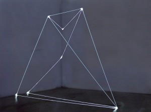 39 CARLO BERNARDINI, Spazio Permeabile 2002, fibre ottiche mt h 3x4x2, Bangkok, National Gallery of Contemporary Art.